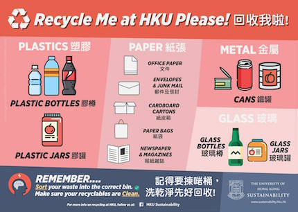 green Affiche campagne HKU Disposable plastic
