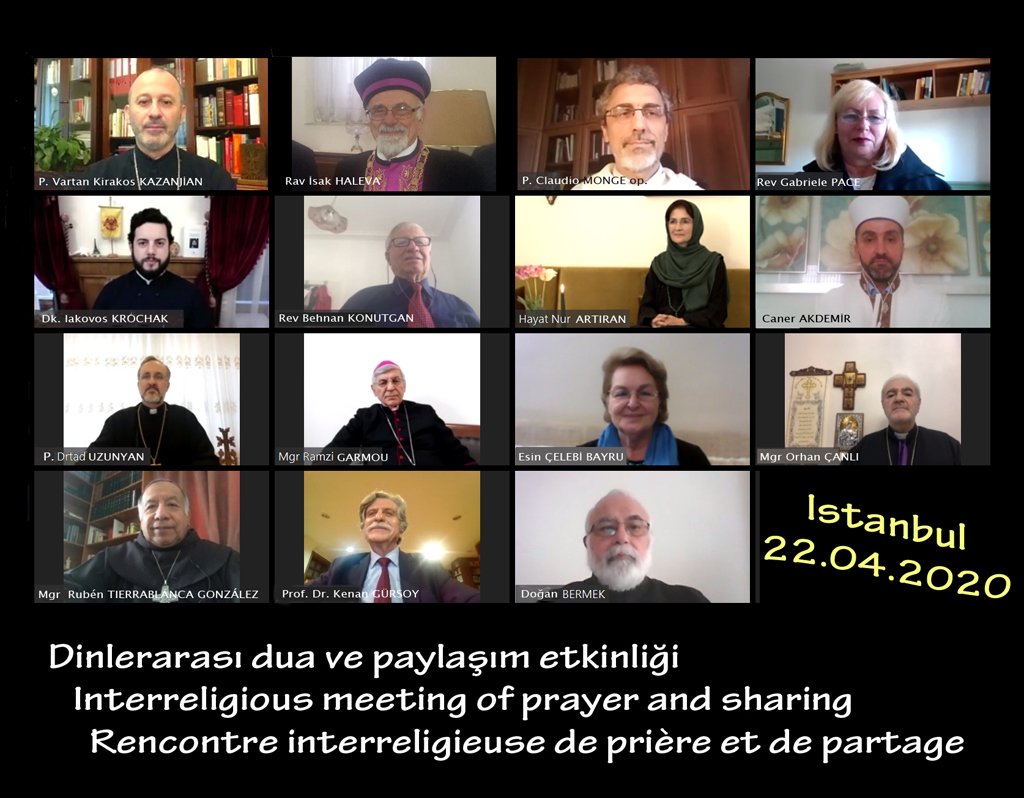 rencontre inter religieuse Istanbul avril 2020