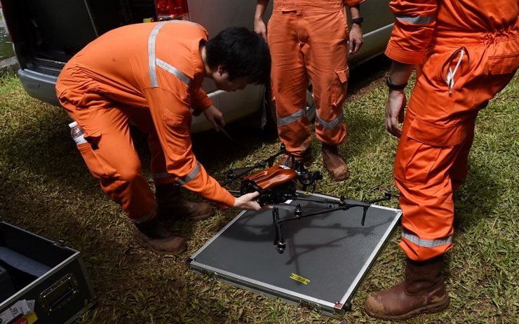 Drone a vision infra-rouge