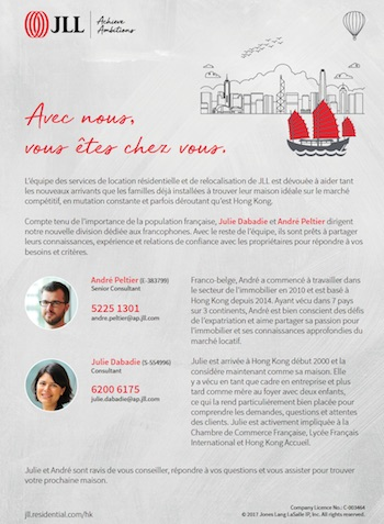Brochure JLL Hong Kong French Desk Location