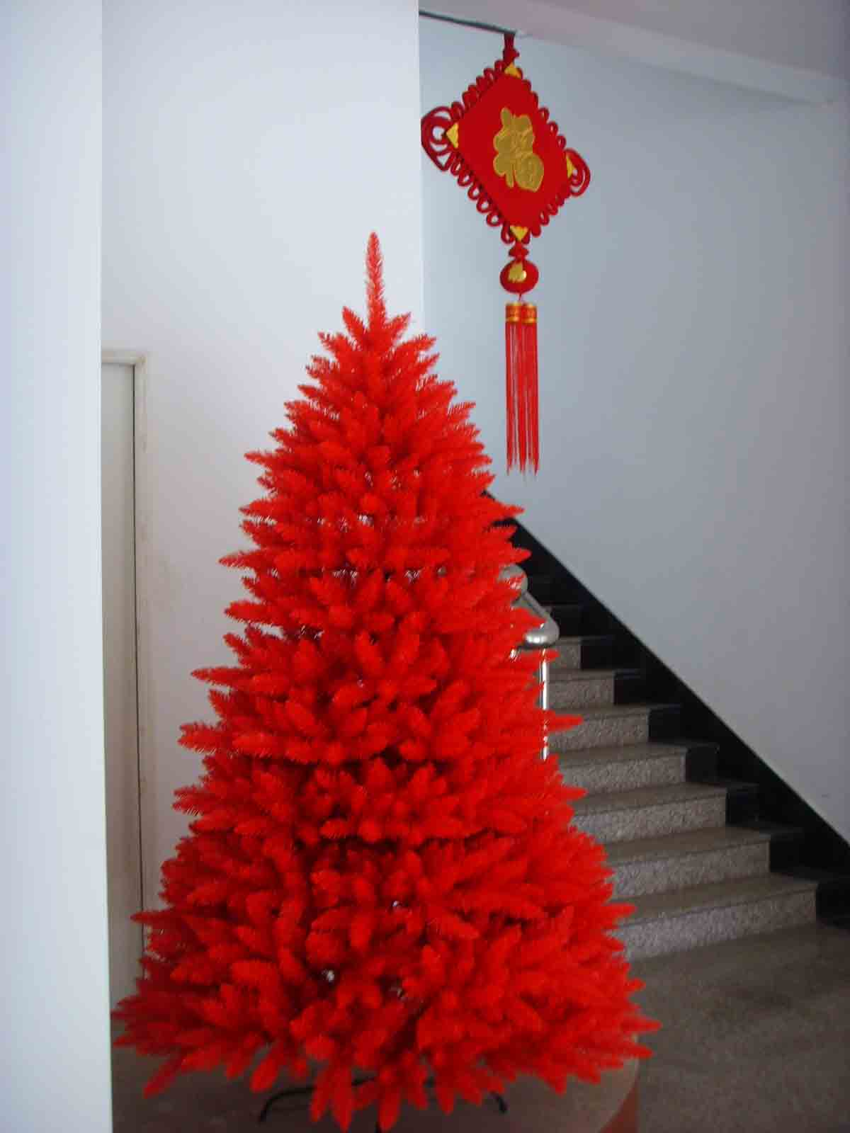 sapin-rouge-noel-chine