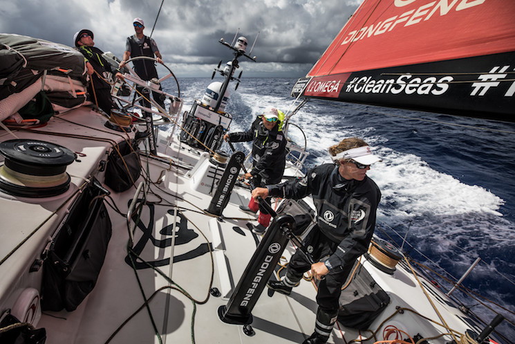 Dongfeng Race Team - skipper Charles Caudrelier -