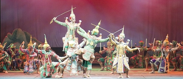 khon performance unesco thailande