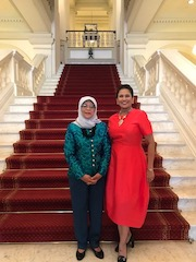 Lavinia Thanapathy Halimah Yacob le Petit Journal de Singapour