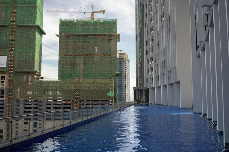Phnom Penh's rapid expansion outwards is being mirrored in the city centre