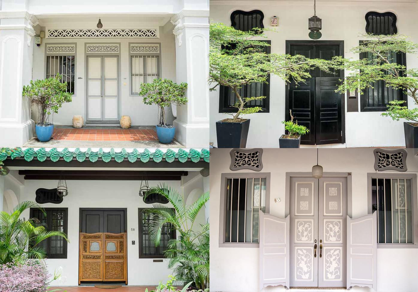 Shophouses doors