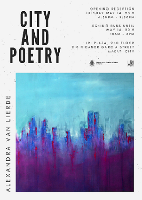 City and Poetry exposition peintre Manille Alexandra Van Lierde