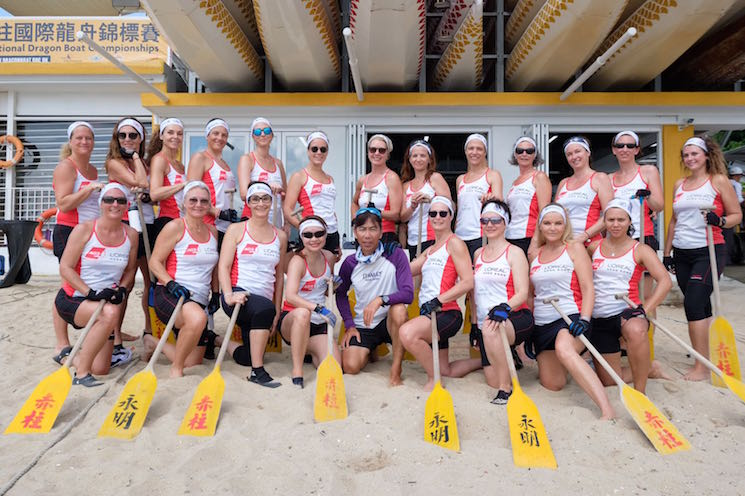 So French equipe Dragon Boat Hong Kong accueil