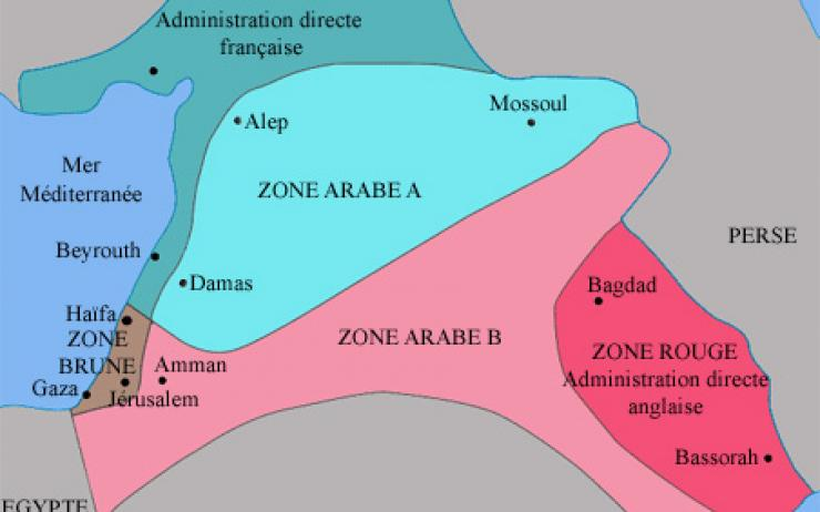 Photo : Accords Sykes-Picot (source wikipédia)