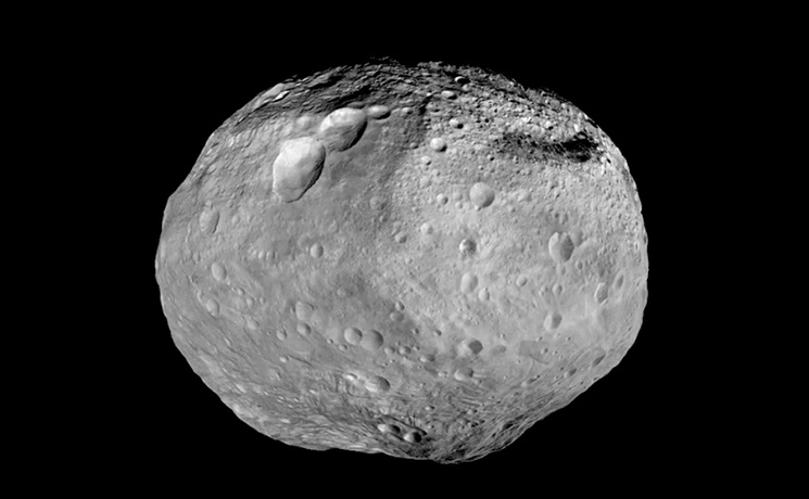 Asteroide Vesta visible