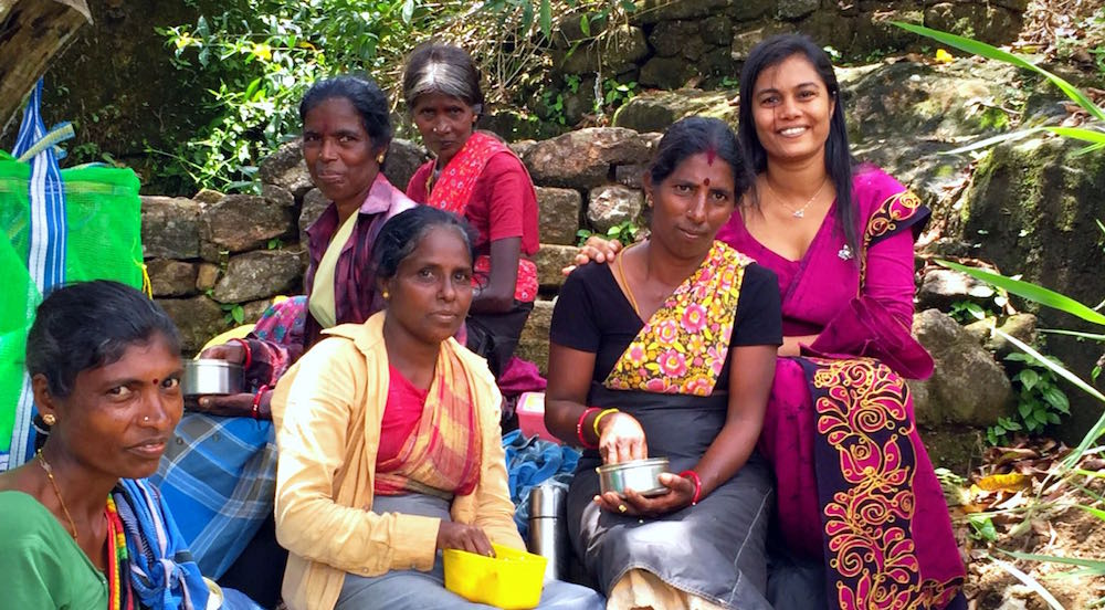 Women in Sri Lanka tea Plantations