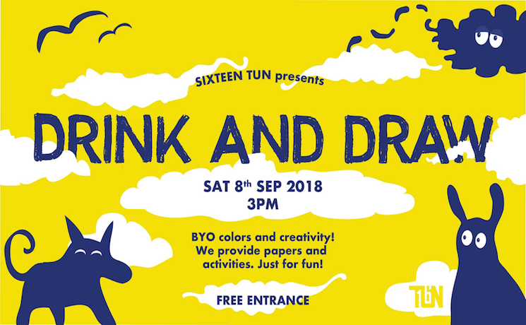 drink and draw sixteen tun bar bier