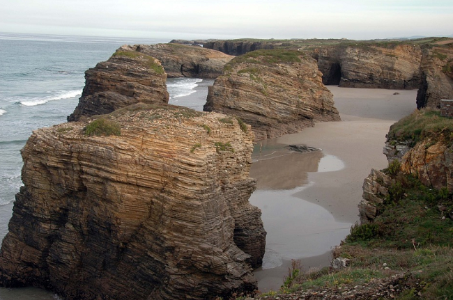 plage catedrales ribadeo galice