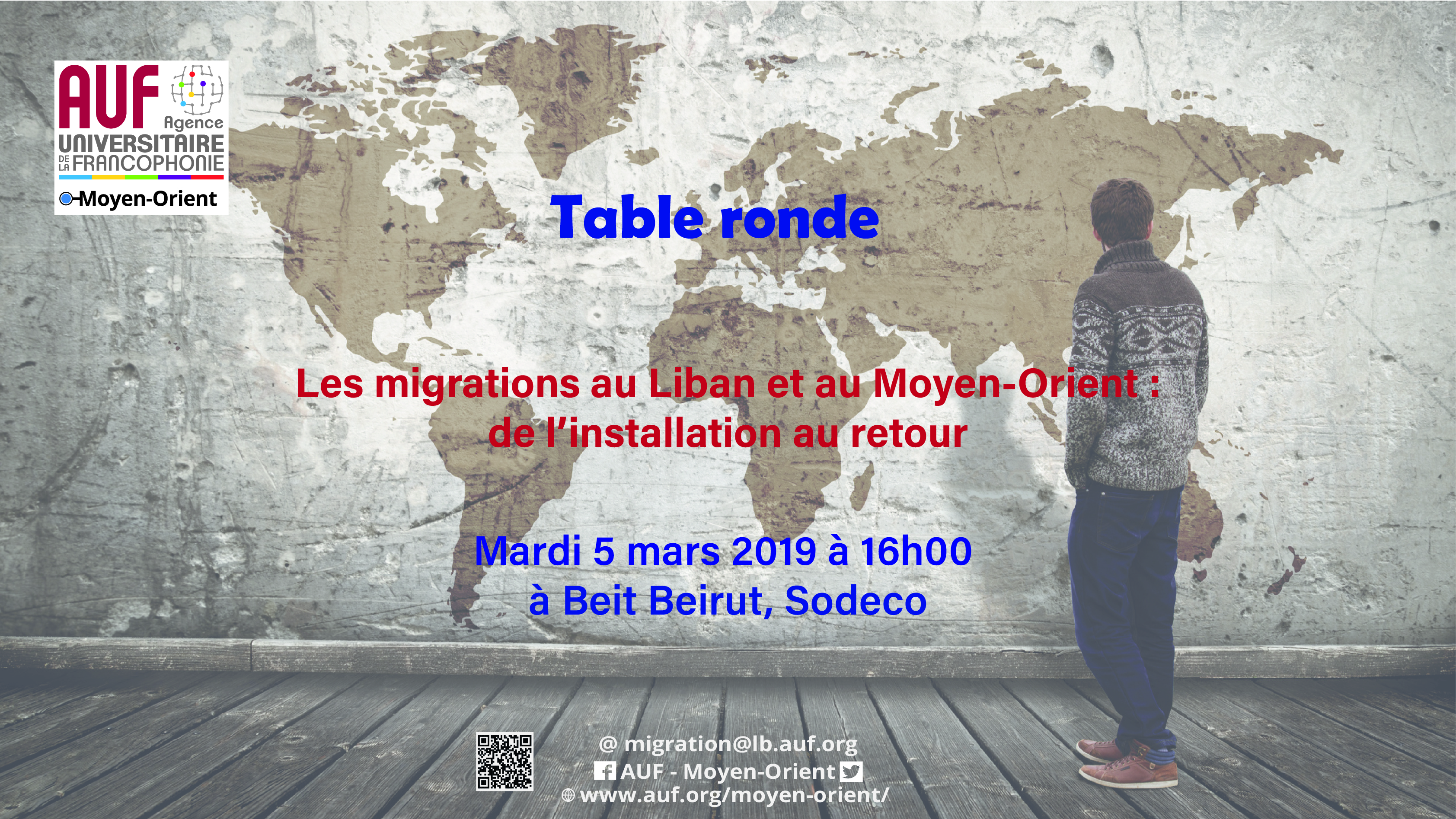 AUF table ronde 5 mars réfugiés migrants déplacés
