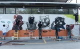 Fresque picturale graffiti