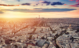 paris-france-at-sunset-aerial-view-5H2RB9Y