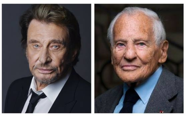 Johnny Hallyday Jean d'Ormesson