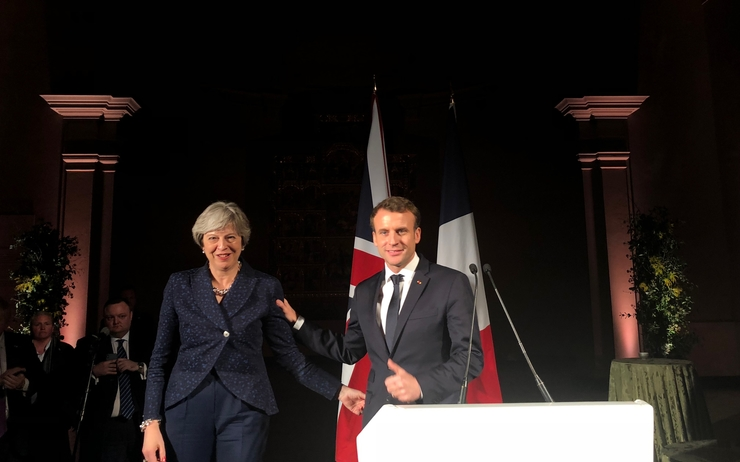 Revivez la rencontre entre emmanuel macron et theresa may for Chambre de commerce franco britannique londres