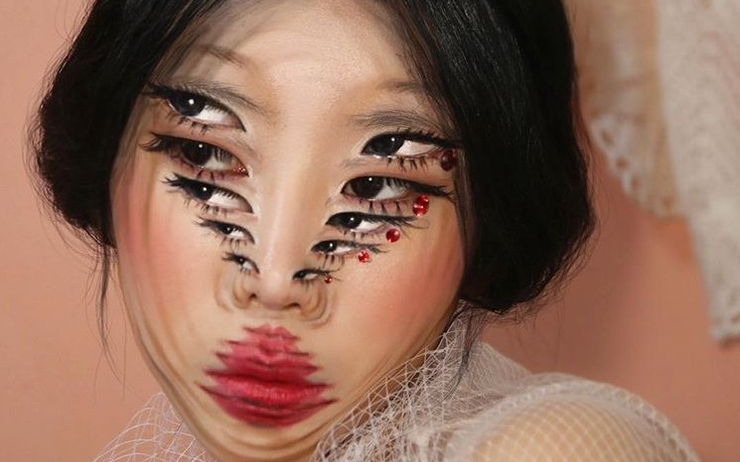 yoon da in maquillage illusion visages optique talent corée incroyable