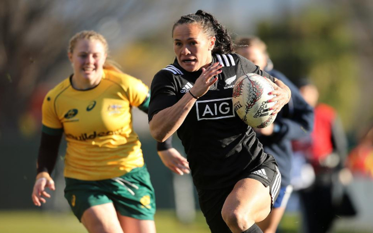 Portia Woodman black ferns 2017 Australie