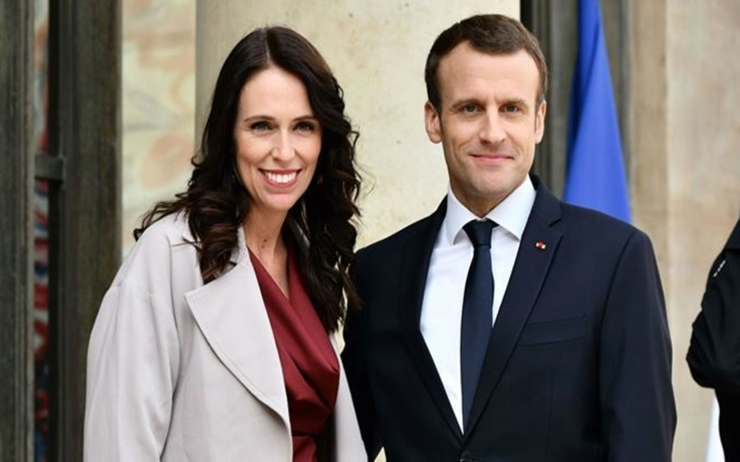 Ardern and Macron meeting april 2018