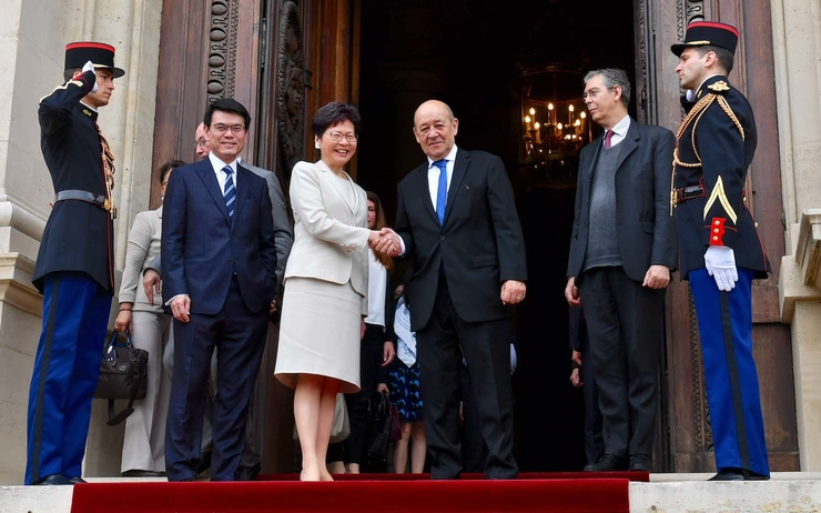 Carrie Lam visite France