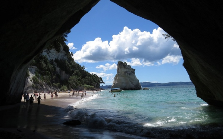 Cathedral Cove fermeture effondrement coromandel