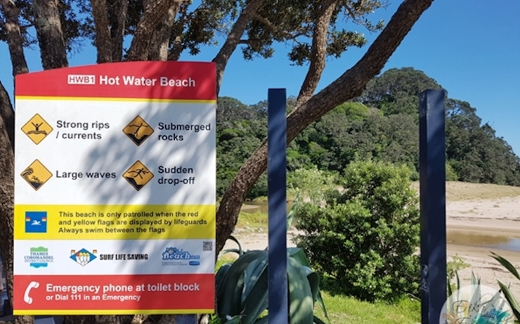noyade Hot Water Beach danger