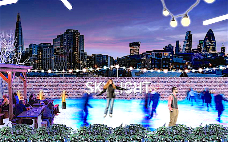 Patinoire Skylight Londres panoramique