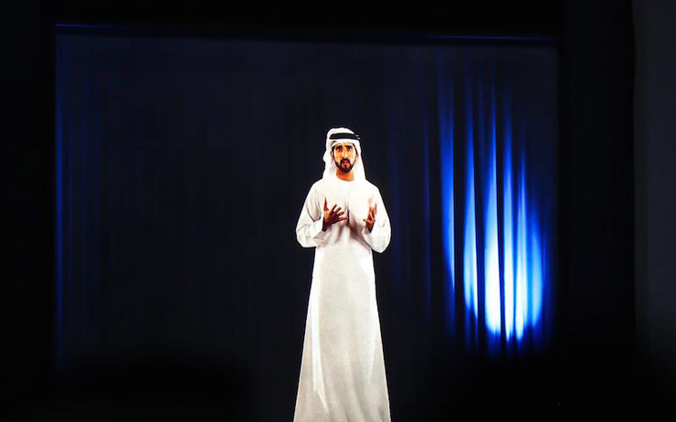Dubai-world-government-summit-cheikh-hamdan-hologram