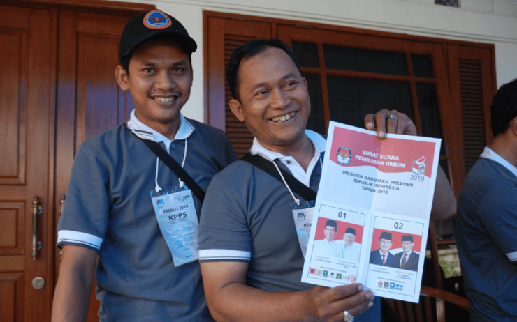 election journee Jakarta reportage photo