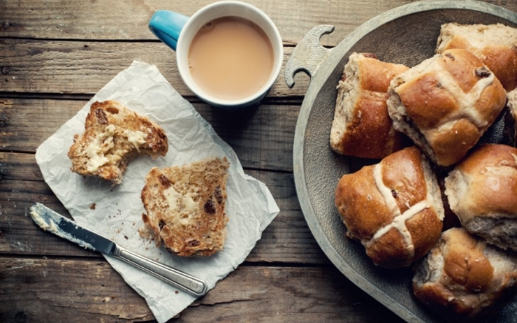 recette recipe hot cross buns Australia