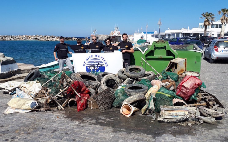 we dive we clean déchets marins
