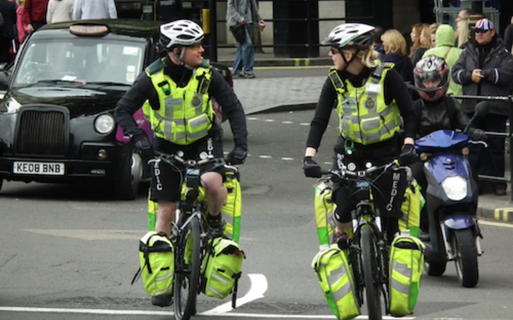 Cycle Response Unit ambulanciers vélo Londres