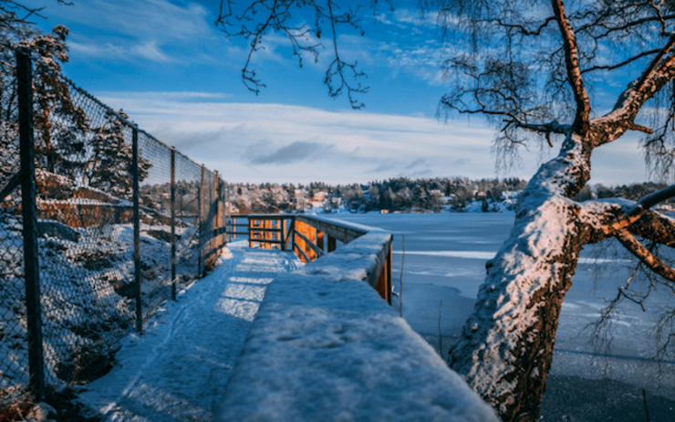 stockholm hiver patinoire