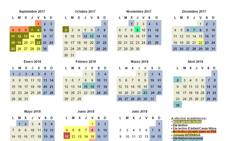 Calendrier Madrid.Calendrier Scolaire Madrid Calendrier Scolaire Espagne